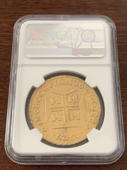 購入者様キャンセルにつき再掲載 激レア 超大型金貨 1727年ブラジル 20000レイス NGC MS63