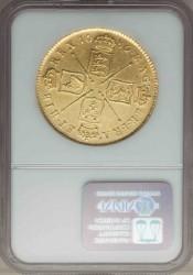 最高鑑定 1686年 英国 ジェームス2世5ギニー金貨 NGC AU58