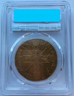 最高鑑定 VIGOの次にレア年!! 1705年 英国 アン女王5ギニー金貨 PCGS AU55