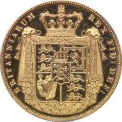 Deep Cameo PCGS3番目の最高級 1826年 英国 ジョージ4世 2ポンドプルーフ金貨 PCGS PR64DCAM