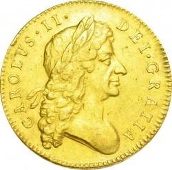 レア 1684年 英国 チャールズ2世 5ギニー金貨 GVF
