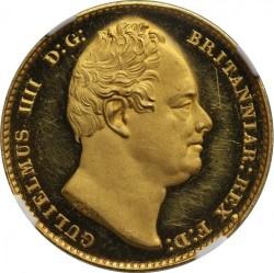 激レア 試鋳貨 パターン 1830年 英国 ウィリアム4世 パターン (Pattern) プルーフ ソブリン金貨 NGC PF62UC