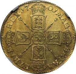 1701年 英国 ウィリアム3世 2ギニー金貨 Fine Works NGC AU53