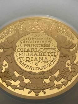 発行25枚 2015年 英国 シャーロット王女 洗礼記念 500ポンド金貨 NGC GEM PROOF