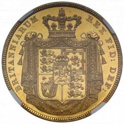 1826年 英国 ジョージ4世 5ポンドプルーフ金貨 NGC PF61 CAMEO