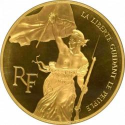 鑑定品これ一枚のみ! 1993年 フランス 民衆を導く自由の女神  5オンスプルーフ金貨 NGC PF68UC