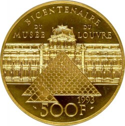 4月ピックアップ  鑑定品これ一枚のみ! 1993年 フランス 民衆を導く自由の女神  5オンスプルーフ金貨 NGC PF68UC