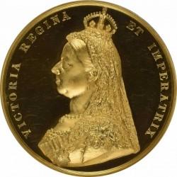 3月ピックアップ 大型メダルでウルトラカメオ!!1887年ヴィクトリア・ゴールデンジュビリーの大型ゴールドメダル NGC PF63UC