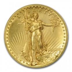 滅多に出ない 1907年 米国 セントゴーデンズ ハイリリーフ金貨 NGC PF65