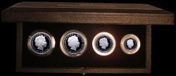 2007年 英国 ブリタニア プルーフプラチナム貨4枚セット