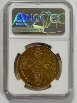 PCGSとNGC合わせて最高鑑定 1669年 英国 チャールズ2世 5ギニー金貨 NGC AU55