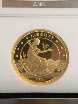 1876 (2010年鋳造) $100 ゴールドユニオン1オンス ゴールドメダル NGC Ultra Cameo GEM Proof