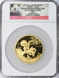 発行99枚 2013年 中国 5オンス ゴールド パンダ メダル  ベルリン