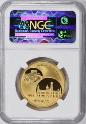 2014年中国パンダ1オンスゴールドメダル スミソニアン協会コラボ NGC PF70 Ultra Cameo
