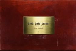 発行300枚のみ 1876 (2005年鋳造) $100 ゴールドユニオン5オンス ゴールドメダル NGC Ultra Cameo GEM Proof
