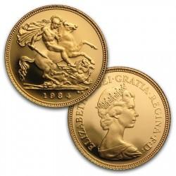 1984年 英国 ヤングエリザベス プルーフ金貨3枚セット