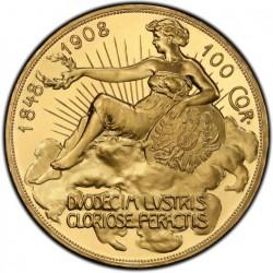 NGCでUCはゼロ 最高鑑定! PR64DCAMは激レア 1908年 オーストリア 100コロナプルーフ金貨 雲上の女神 PCGS PR64 DEEP CAMEO