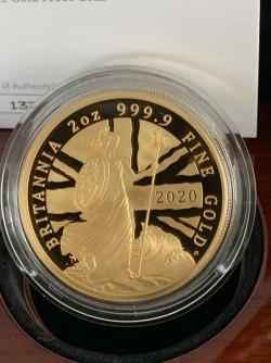 即日発送可 最後の一枚 発行150枚のみ 2020年 英国 プレミアム・ブリタニア 2オンスプルーフ金貨