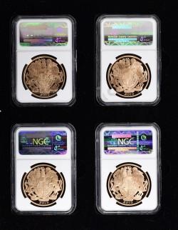 最高鑑定 2013年 QUEENS CORONATION 女王戴冠式 プルーフ金貨4枚セット NGC PF70UC