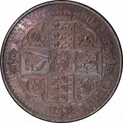 1847年 英国 ゴチッククラウン銀貨 PCGS PR63