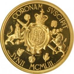 純金113.42グラム 鑑定品これのみ! 1953年 英国 エリザベス2世 即位記念 ゴールドメダル NGC MS65