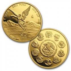 2018年 メキシコ リベルタード金貨プルーフ5枚セット