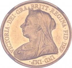 1983年 英国 ビクトリア女王 ヴェールヘッド(オールドヘッド)5ポンドプルーフ金貨 NGC PF60 Ultra Cameo