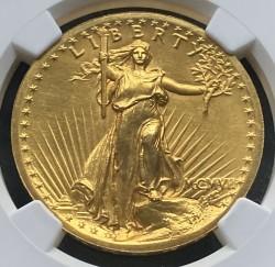 1907年 米国 セントゴーデンズ ハイリリーフ金貨 NGC PF66