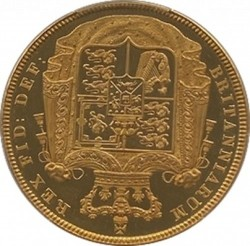 価格が上がっております 1826年 英国 ジョージ4世 5ポンドプルーフ金貨 PCGS PR63 CAMEO