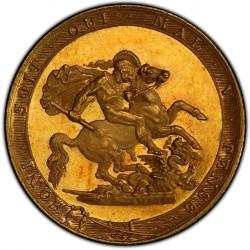 個人所有は数枚 R5 (現存6-10枚) 最高鑑定 PCGS鑑定はこれのみ 1817年 英国 ジョージ3世 ソブリンプルーフ金貨 PCGS PR63+DCAM