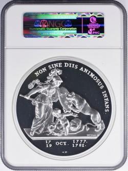 1776年 (2015年リストライク) フランス リベリタス・アメリカーナ 1キロプルーフ銀貨 NGC PF70UC