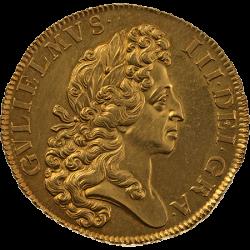 鑑定なしだから実現 1701年 英国 ウィリアム3世 5ギニー金貨 ファインワークス
