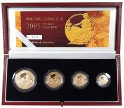 2005年 英国 ブリタニアプルーフ金貨4枚セット