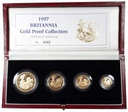 1997年 英国 ブリタニア プルーフ金貨 4枚セット