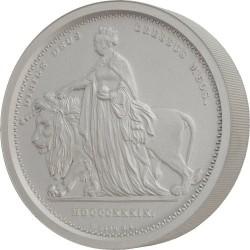 発行99枚のみ マット仕様 2020年オルダニー ウナライオン1キロマットプルーフ銀貨
