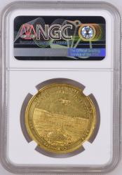 鑑定はこの1枚のみ 1714年 ドイツ バーデン ラシュタット講和条約記念 5ダカットゴールドメダル NGC MS61