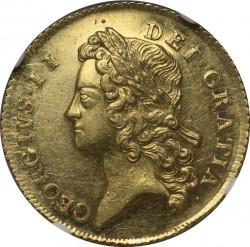 プルーフライクはこの一枚のみ 1735年 英国 ジョージ2世 2ギニー金貨 NGC MS61+ プルーフライク