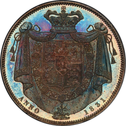 Deep Cameoで最高鑑定 NGCには存在しない 1831年 英国 ウィリアム4世 プルーフクラウン銀貨 PCGS PR64 Deep Cameo