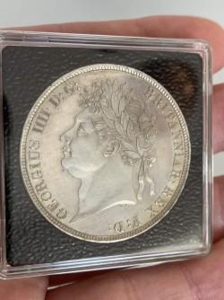鑑定なし 1821年 英国 ジョージ4世クラウン銀貨