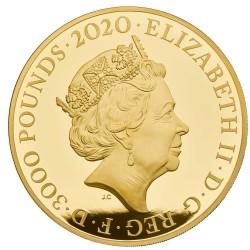 2020年 英国 ロイヤルミント発行 スリーグレイセス 1キロプルーフ金貨