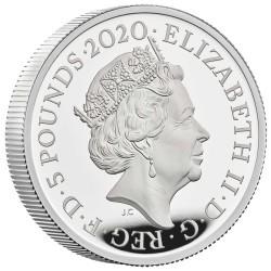 弊社最後の一枚 2020年 英国 スリーグレイセス 2オンスプルーフ銀貨