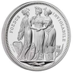 キャンセルが出たので再販 2020年 英国 スリーグレイセス 5オンスプルーフ銀貨