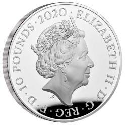 たった175枚のみ 存在すら知らない方が多い貴重な一枚 2020年 英国 スリーグレイセス 10オンスプルーフ銀貨
