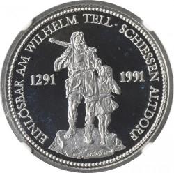 最終価格 1986 スイス プラチナ貨 100 Francs Altdorf Shooting Festival NGC PF69UC
