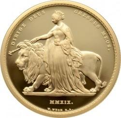 2019年 英国(ロイヤルミント) ウナライオン2オンスプルーフ金貨