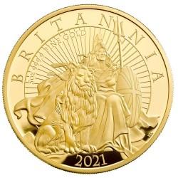 1枚入荷予定 発行わずか80枚のみ 2021年 英国 プレミアム・ブリタニア 5オンスプルーフ金貨