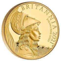 最終価格 2021年 英国 プレミアム・ブリタニア 2オンスプルーフ金貨