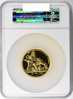 1776年 (2014年リストライク) Libertas Americana 5オンス大型金貨 NGC PF70 Ultra Cameo High Relief