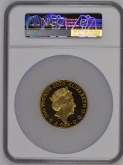 PF70UC FRは12枚のみ 2020年 英国 ミュージック・リジェンド デヴィッド ボウイ 5オンスプルーフ金貨 NGC PF70UC First Release