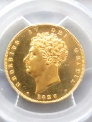1826年 英国 2ポンドソブリンプルーフ金貨 PCGS PR62CAM